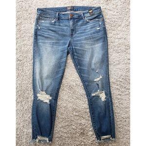 Abercrombie Distressed Skinny Jeans NWT